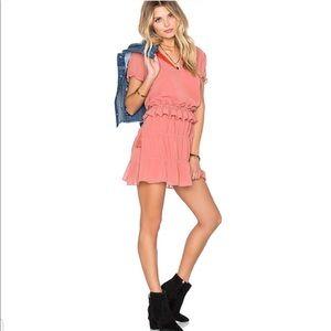 TULAROSA Colleen Ruffle Tassel Peach Dress XS